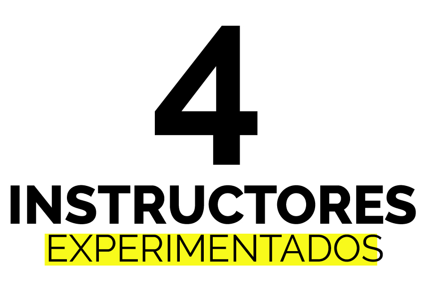 4 instructores