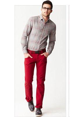 pantalones rojos autoestima