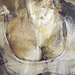 cuadro erotico de ERNEST DESCALS mujer y senos